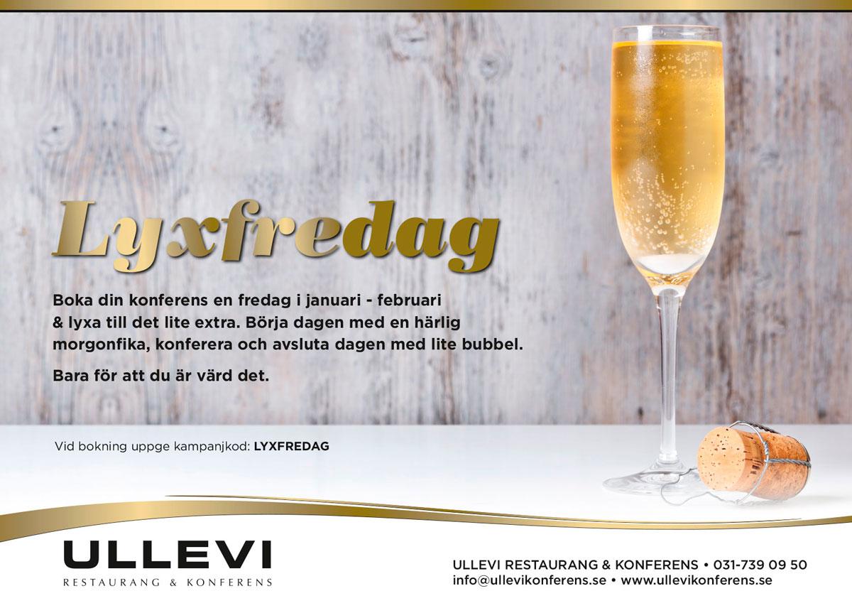 LYXFREDAG - Ullevi restaurang och konferens i Göteborg.