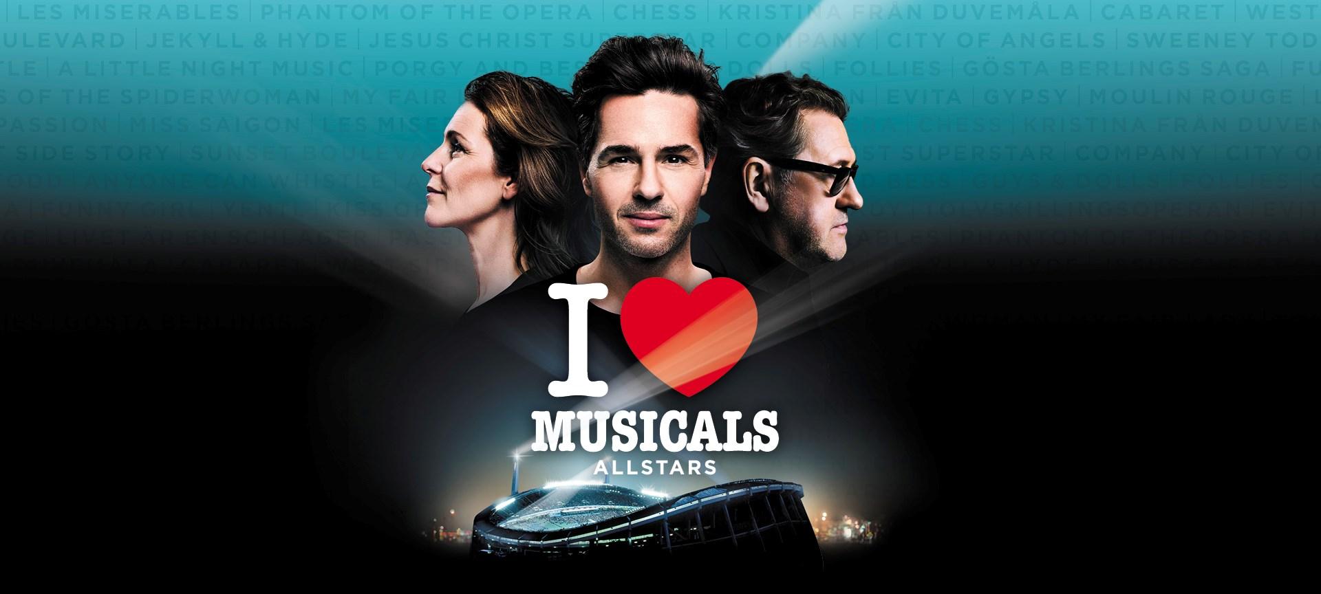 Boka bord till I Love Musicals - Ullevi restaurang och konferens i Göteborg.